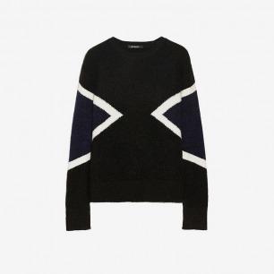 NEIL BARRETT 拼色针织毛衣