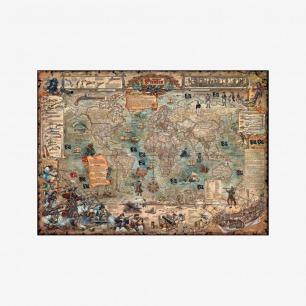 HEYE 古世界地图海盗版拼图