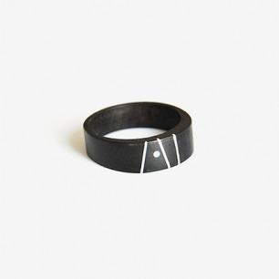 【复雅堂】设计师原创手工嵌银戒指
