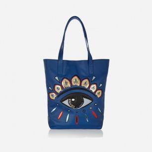 KENZO 眼睛图案缀饰皮质手提包