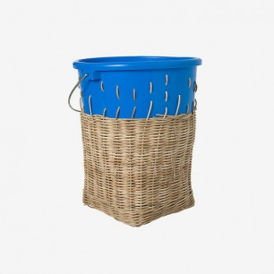 Areaware 蓝色编织塑料垃圾桶
