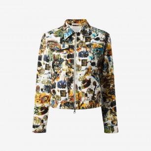 Jean Paul Gaultier Vintage Print Denim Jacket - House Of Liza - Farfetch.com