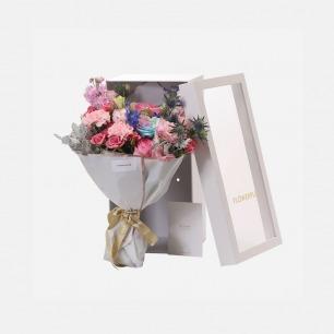 主题混合鲜花礼盒 | 19枝以上饱满用量