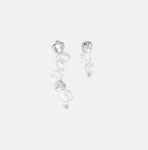 异形珍珠不对称耳钉组合 | 精选天然异形珍珠手工镶嵌