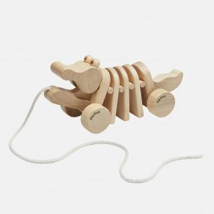 原木拖拉蜗牛和鳄鱼   发展小朋友大动作和协调能力
