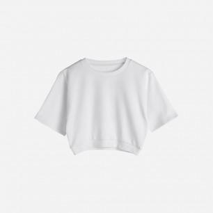 ND Shield Sweatshirt白色短款T恤