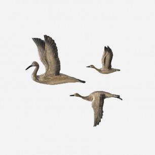 【纽约下城公园】 木质翩翩起舞的大雁挂件