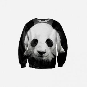 Mr GUGU&MISS GO波兰潮牌超逼真熊猫印花图案套头3D卫衣