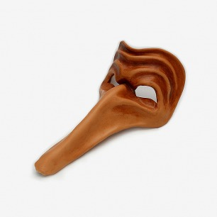 长鼻子小丑皮革面具