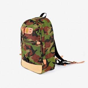 日本MASTER-PIECE绿色迷彩防水双肩包/旅行包