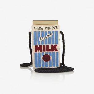 OLYMPIA LE-TAN Milk Carton 刺绣单肩包