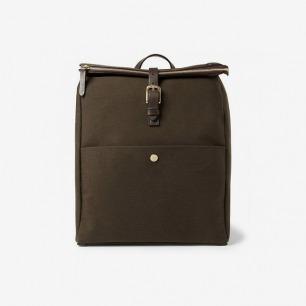 MismoLeather-Trimmed Wool-Twill Backpack|MR PORTER
