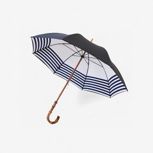 Naval / Navy Striped Umbrella by London Undercover