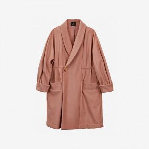 【青集站】独立设计师款特殊剪裁针织羊绒毛呢大衣13w-12