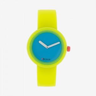 【英国代购 潮!】O'Clock 硅胶 荧光黄 手表