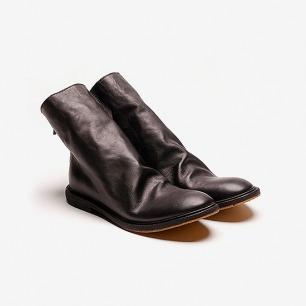 KINKLE WORKSHOP 植鞣牛皮后侧拉链皮靴
