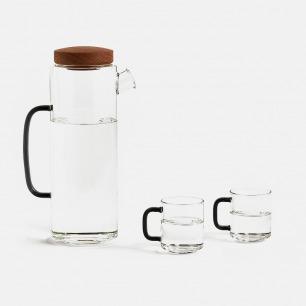 玻璃冷水壶套装 | 极简设计 断水干净利落