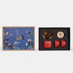 新月共圆皓月茶具套装 | 中国红茶具+福鼎白茶礼盒
