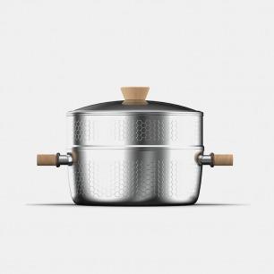 雪平蒸锅24cm   上蒸下煮,导热迅速