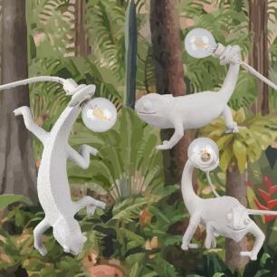 蜥蜴变色龙台灯壁灯 | 意大利潮牌家居氛围灯