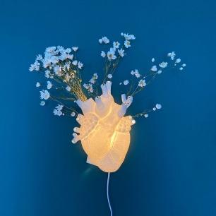 创意心脏花瓶壁灯 | 是壁灯,也是好看的花瓶
