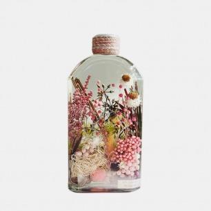永生花植物浮游瓶摆件 | 精挑永生花材,内含一个小世界
