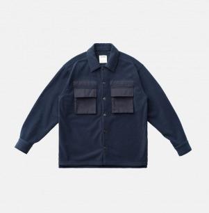 复古拼接双面摇粒绒衬衫 | 原创设计,定制面料
