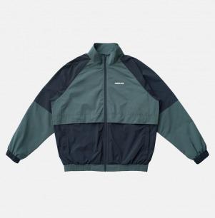 复古宽松拼色拉链运动外套 | 原创设计,定制面料