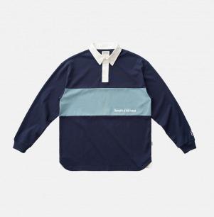 复古长袖拼接刺绣POLO衫 | 原创设计,定制面料