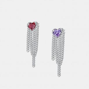 破壳心形宝石胸针 | 创新镶嵌工艺,将锆石包裹