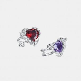 破壳心形宝石戒指 | 创新镶嵌工艺,将锆石包裹