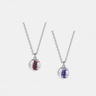 破壳圆形宝石项链 | 创新镶嵌工艺,将锆石包裹
