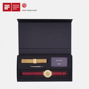 金色表盘触感磁力腕表 | 用触摸感知时间