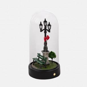 情人节浪漫爱心玻璃罩摆件 | 意大利浪漫心形小夜灯