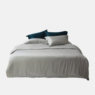 100支贡缎亲肤长绒棉床品 | 埃及贡缎长绒棉 纯色设计