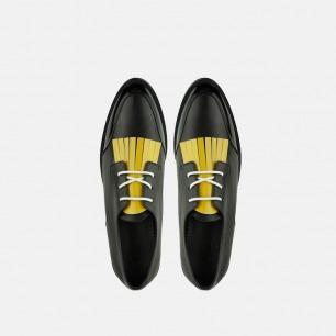潮流配色流苏德比鞋   可替换流苏鞋带 自由搭配