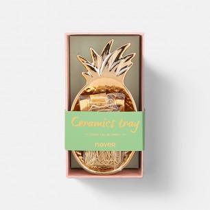 菠萝金属托盘套装 | 附赠票夹回形针