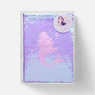美人鱼A5珠片笔记本 | 双面图案,附赠美人鱼贴纸