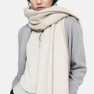 水波纹羊绒宽围巾 | 手感细腻 颜色百搭
