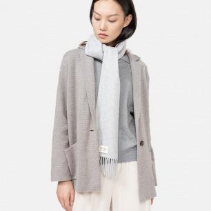 水波纹羊绒窄围巾 | 颜色百搭 室内室外皆宜