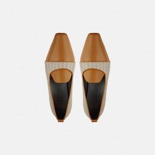 复古编织乐福鞋   蜜色牛皮搭配手工编织
