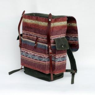毛织旅行双肩背包