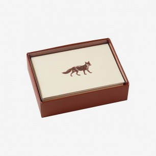 Premium Foil Fox Note Cards