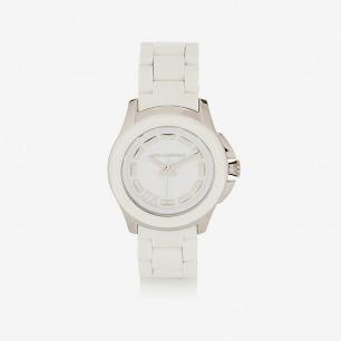 KARL LAGERFELD Klassic Seven 不锈钢和硅胶手表