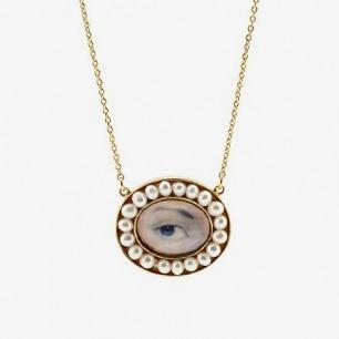 V&A Pearl Eye Pendant Necklace||EVAEX||RHFPR : All