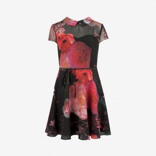 EUDORRA - Natural kingdom print dress - Black | Womens | Ted Baker UK