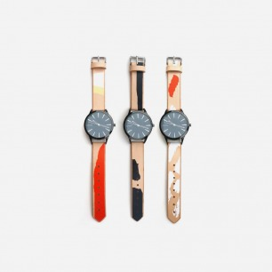 Colorblock Printed Leather Watches – Cold Picnic