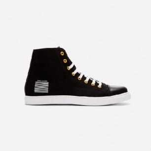 MARC JACOBS 14年新款 黑色帆布 运动休闲高帮鞋
