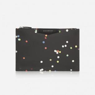 GIVENCHY 彩点印花纹理人造皮革小袋
