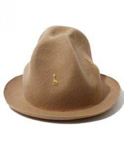 Ne-net 长颈鹿贴花羊毛呢子毡帽